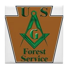 Forest Service Mason Tile Coaster