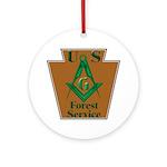 Forest Service Mason Ornament (Round)