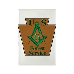 Forest Service Mason Rectangle Magnet (100 pack)