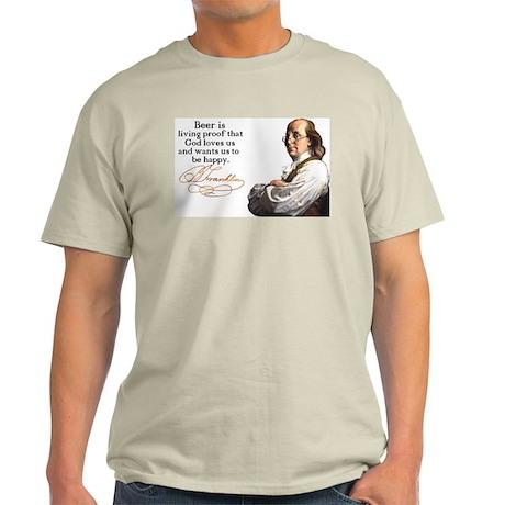 Franklin on Beer Light T-Shirt
