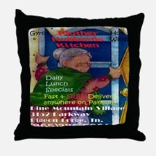 Mother Hubbards Kitchen Throw Pillow