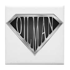 SuperOilman(metal) Tile Coaster