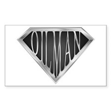 SuperOilman(metal) Rectangle Decal