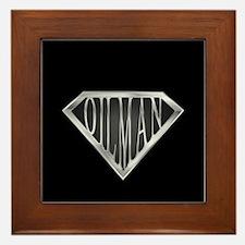 SuperOilman(metal) Framed Tile