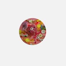 Amigurumi Pink Lollipop Bear Button