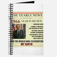 born in 1966 birthday gift Journal