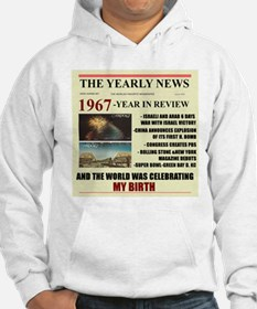 born in 1967 birthday gift Hoodie
