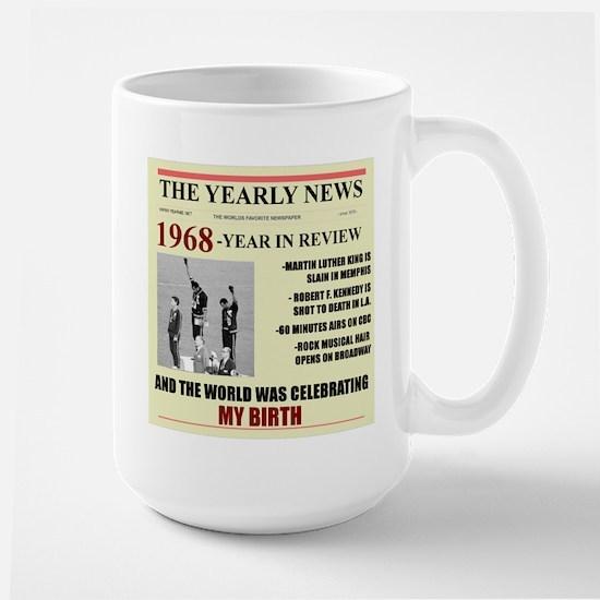 born in 1968 birthday gift Large Mug