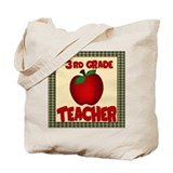3rd grade teacher bag Canvas Bags