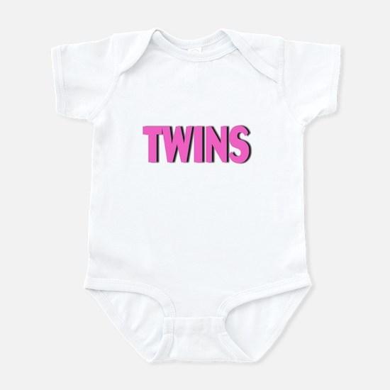 Twins (Pink) Infant Bodysuit