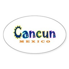 Cancun - Oval Decal