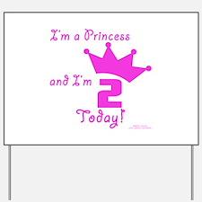 2nd Birthday Princess Yard Sign