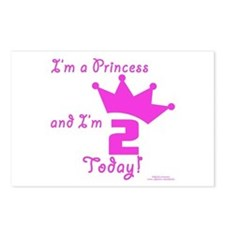 2nd Birthday Princess Postcards (Package of 8)