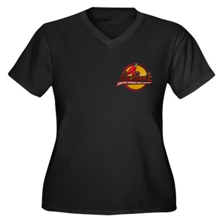 Reed's Women's Plus Size V-Neck Dark T-Shirt