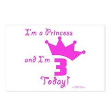 3rd Birthday Princess Postcards (Package of 8)
