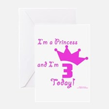 3rd Birthday Princess Greeting Card