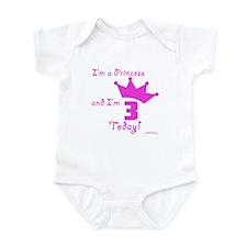 3rd Birthday Princess Infant Bodysuit