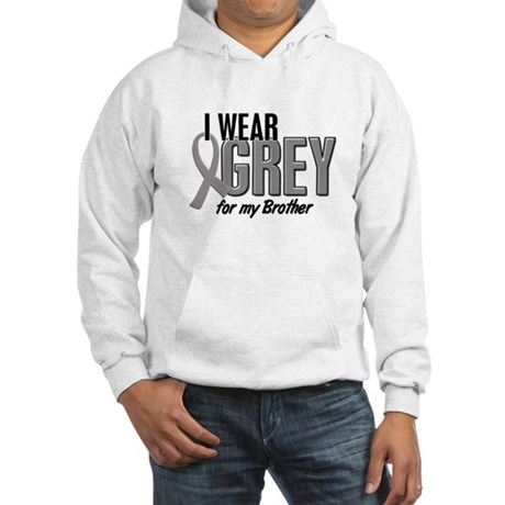 I Wear Grey For My Brother 10 Hooded Sweatshirt