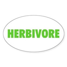 Herbivore Oval Decal