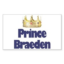 Prince Braeden Rectangle Decal
