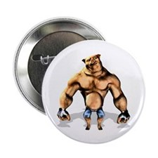 """Fighting Pig 2.25"""" Button (10 pack)"""