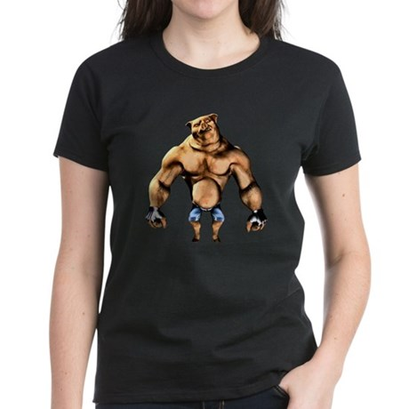 Fighting Pig Women's Dark T-Shirt
