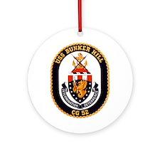 USS Bunker Hill CG-52 Ornament (Round)