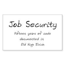 Programming Humor - Job Security Decal