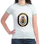 USS Cowpens CG-63 Jr. Ringer T-Shirt