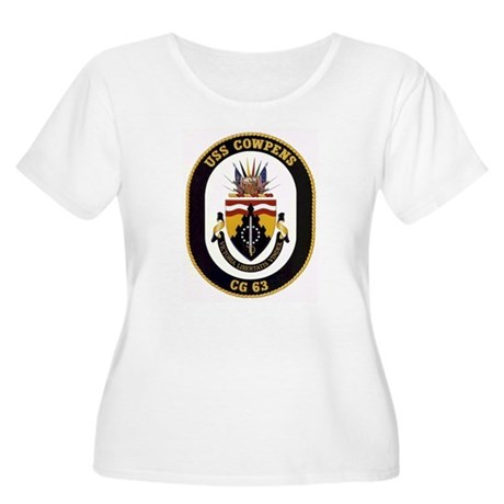 USS Cowpens CG-63 Women's Plus Size Scoop Neck T-S