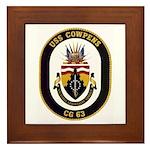USS Cowpens CG-63 Framed Tile
