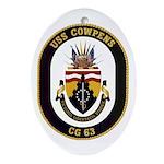 USS Cowpens CG-63 Oval Ornament