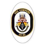 USS Cowpens CG-63 Oval Sticker (10 pk)