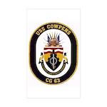 USS Cowpens CG-63 Rectangle Sticker 10 pk)