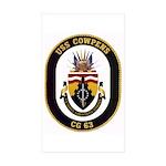 USS Cowpens CG-63 Rectangle Sticker 50 pk)