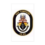 USS Cowpens CG-63 Rectangle Sticker