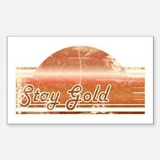 Vintage Distressed Stay Gold Rectangle Decal