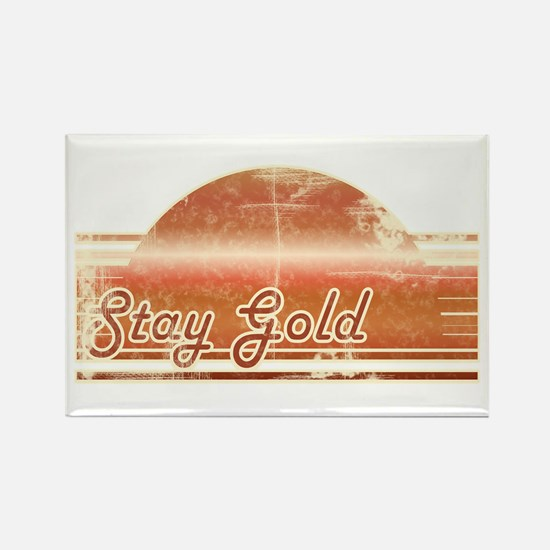 Vintage Distressed Stay Gold Rectangle Magnet
