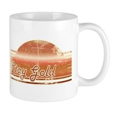 Vintage Distressed Stay Gold Small Mug