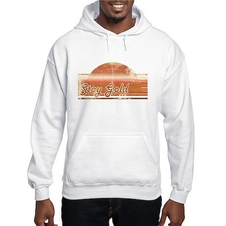 Vintage Distressed Stay Gold Hooded Sweatshirt