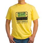 Text Addict Yellow T-Shirt