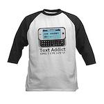 Text Addict Kids Baseball Jersey
