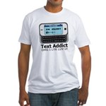 Text Addict Fitted T-Shirt