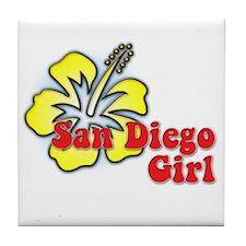 San Diego Girl Tile Coaster