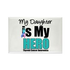 Thyroid Cancer Hero Rectangle Magnet