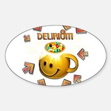 Delerium In The Groove Oval Decal