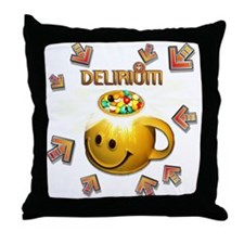 Delerium In The Groove Throw Pillow