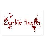 Zombie Hunter Splatters Rectangle Sticker