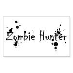 Zombie Hunter Splatters Rectangle Sticker 10 pk)