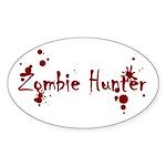 Zombie Hunter Splatters Oval Sticker (10 pk)